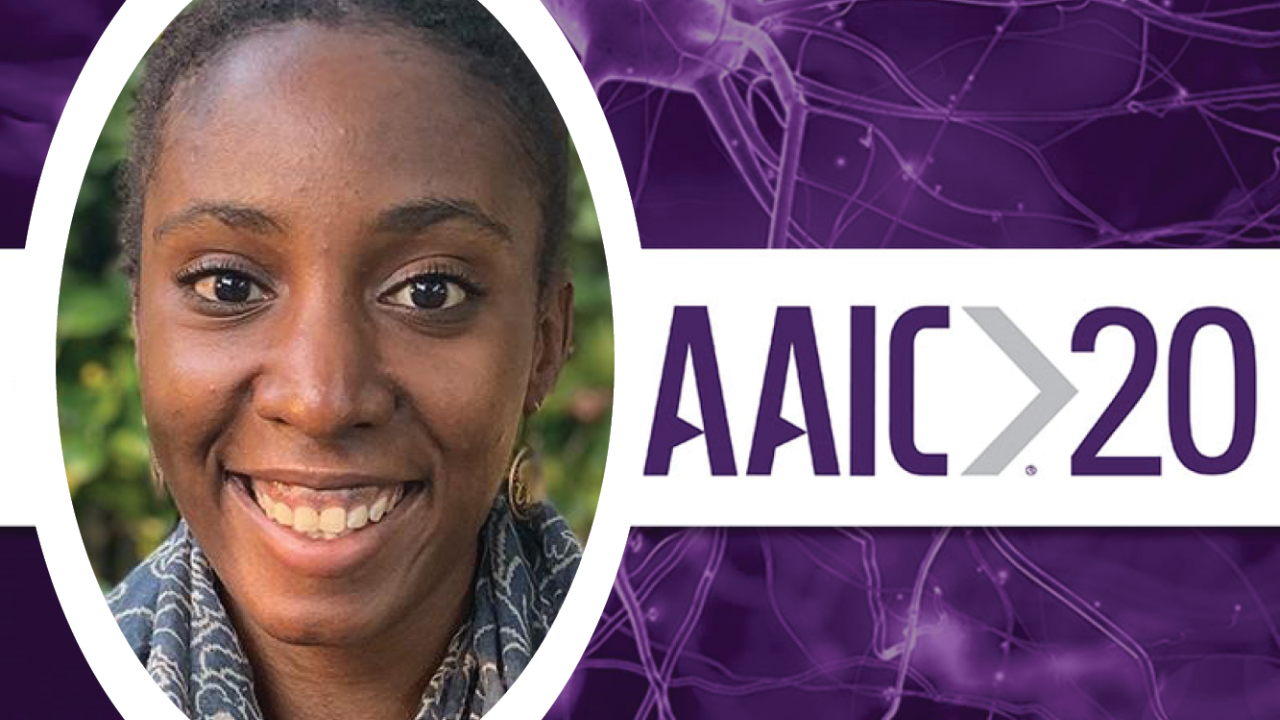 kristen george photo with aaic 2020 logo