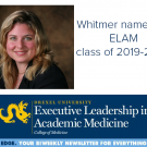 Rachel Whitmer photo and ELAM logo